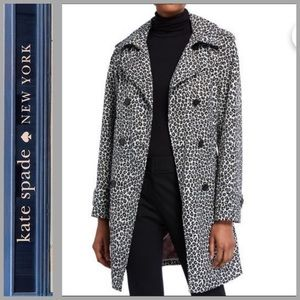 ⬇️🔥⬇️🔥NWT Kate Spade NYLeopard-Print Trench Coat